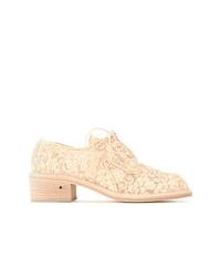 Zapatos oxford de lona en beige de Laurence Dacade