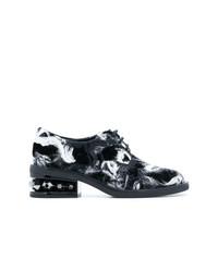 Zapatos oxford de lona en gris oscuro de Nicholas Kirkwood