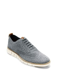 Zapatos oxford de lona grises