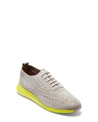 Zapatos oxford de lona grises