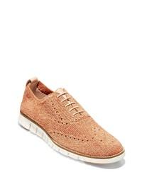Zapatos oxford de lona marrón claro