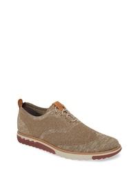 Zapatos oxford de lona marrónes