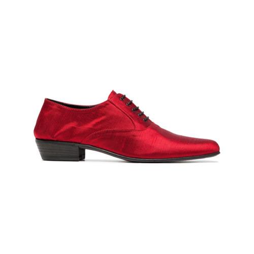 Zapatos oxford de satén rojos de Haider Ackermann