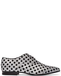 Zapatos oxford grises de Saint Laurent
