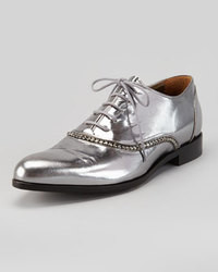 Zapatos oxford plateados original 8534655